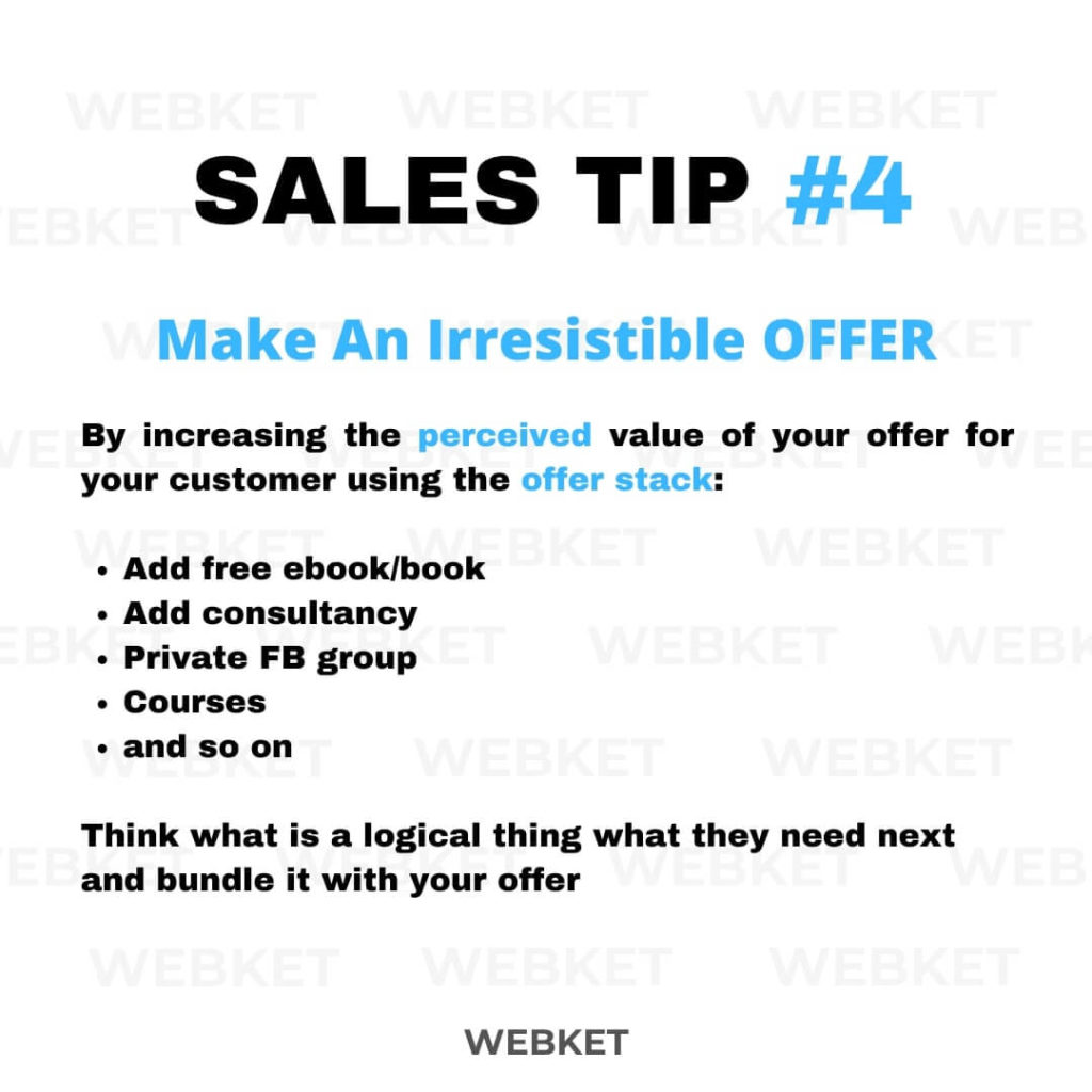 sales tip #4 how to make an irresistible offer for sales pages